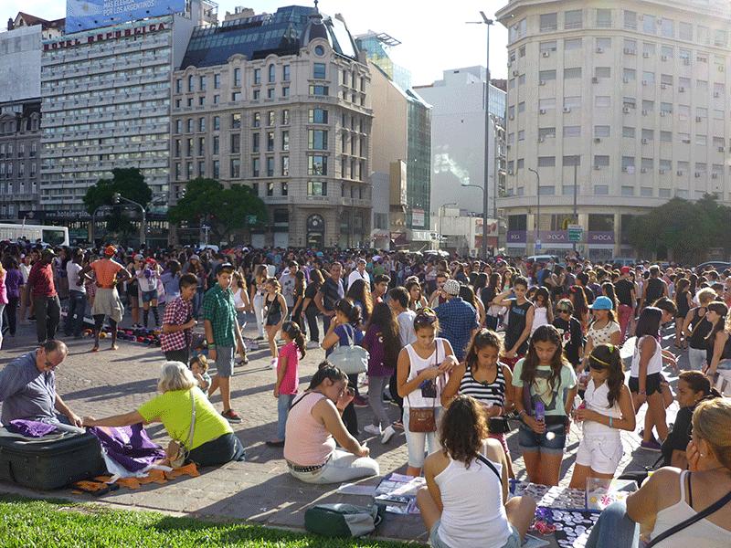 Buenos Aires am Obelisken