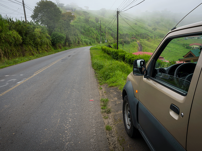 Fahrt durch Costa Rica